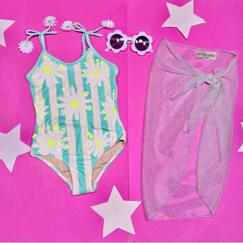 Shade Critters Daisy Flip Sequin One Piece Swimsuit