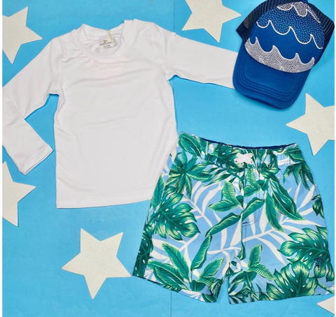 Shade Critters Palm Leaves Swim Trunks