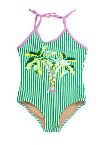 Shade Critters Palm Tree Flip Sequin One Piece