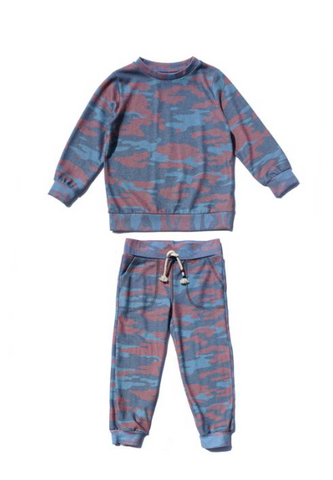 Sol Angeles Kids Camo Sweatshirt and Sweatpants Set