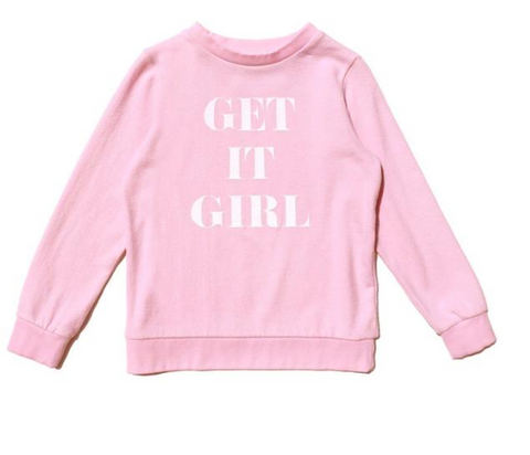 Sol Angeles Kids Get It Girl Sweatshirt