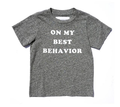Sol Angeles Kids On My Best Behavior Tshirt