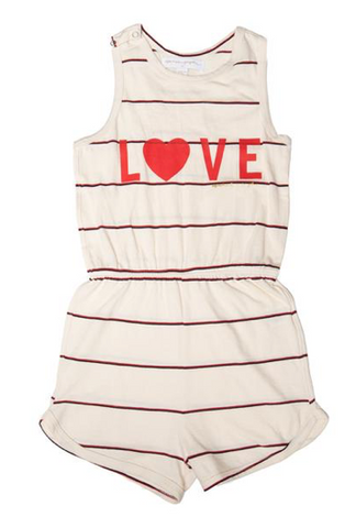 Spiritual Gangster Kids Love Stripe Romper