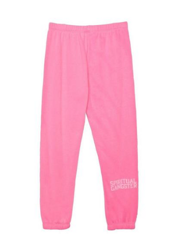 Spiritual Gangster Kids Solid Sweatpants in Pink