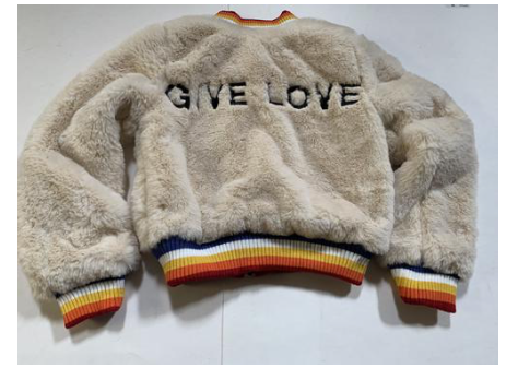 Spiritual Gangster Give Love Furry Bomber Jacket
