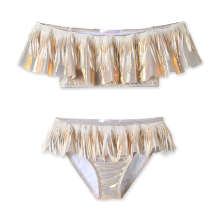 Stella Cove Metallic Fringe Two Piece