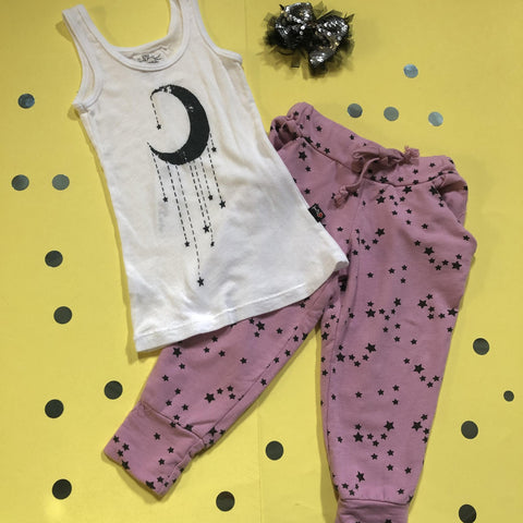 T2Love - Stars Sweatpants and T2Love - Moon Tank Top