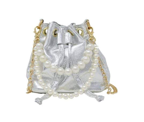 Tiny Treats Metallic Bucket Bag