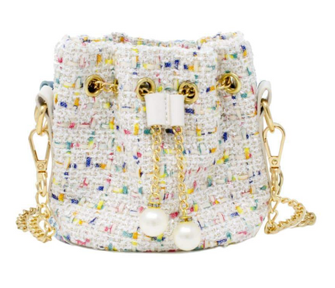 Tiny Treats Tweed Bucket Bag
