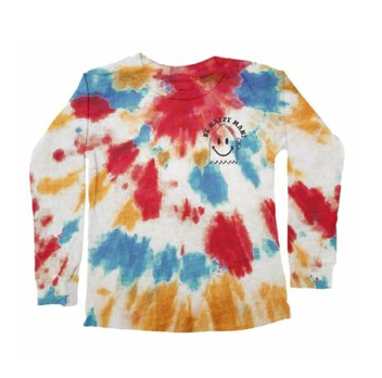 Tiny Whales Be Happy Tie Dye Long Sleeve Top