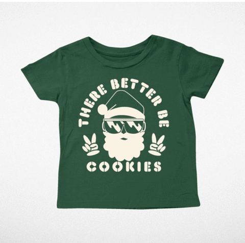 Tiny Whales There Better Be Cookies Santa Tshirt