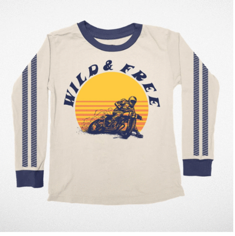Tiny Whales Wild & Free Long Sleeve Tshirt