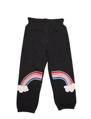 Wildfox Kids Rainbow Knee Sweatpants