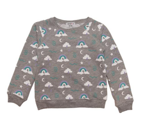 Wildfox Kids Rainbow Skies Sweatshirt