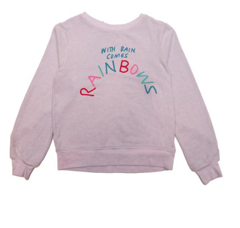 Wildfox Kids With Rain Comes Rainbows Sweatshirt