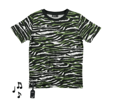 Y Porque Animal Stripe Tshirt (Plays Music) (Preorder)