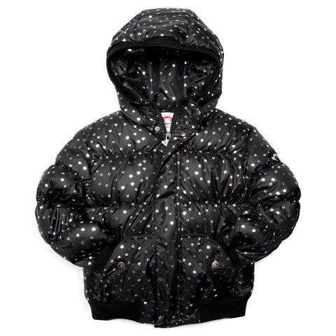 Appaman Metallic Hearts Puffer Coat