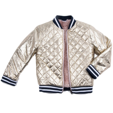 Egg New York Rosalie Quilted Metallic Jacket (Preorder)