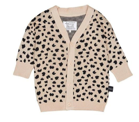 Huxbaby - Leopard Knitted Cardigan
