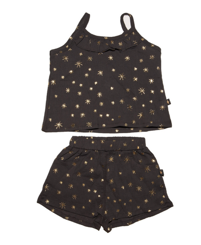 Petite Hailey Metallic Stars Tank and Shorts Set