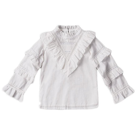 Nellystella Taylor Ruffle And Lace Blouse
