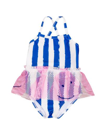 Noe & Zoe - Stripe and Happy Face One Piece Swimsuit (Preorder)