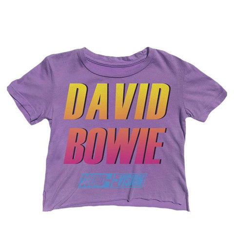 Rowdy Sprout David Bowie Retro Cropped Tshirt