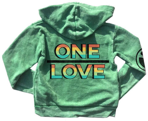 Rowdy Sprout One Love Burnout Zip Up Hoodie