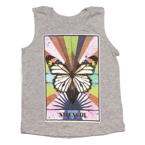 Spiritual Gangster Kids Rainbow Butterfly Strength Tank Top