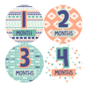 AZTEC PRINT MONTHLY BABY STICKERS - MADDIESMOME