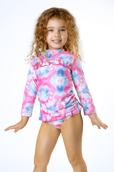 COTTON CANDY RASH GUARD + BOTTOMS SET - SHADE CRITTERS
