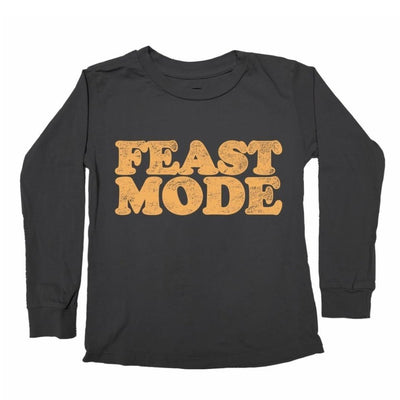 FEAST MODE LONG SLEEVE TSHIRT - TINY WHALES