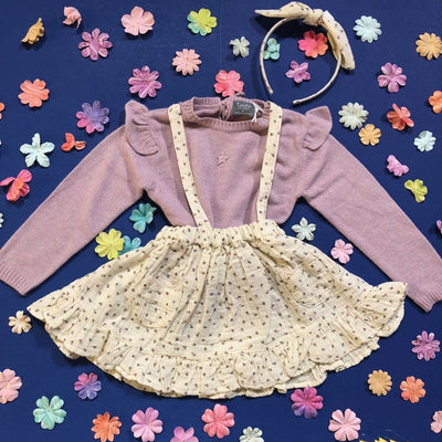 FLORAL OVERALL SKIRT - Mini Dreamers