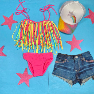 FRINGY TWO PIECE BIKINI - PEIXOTO KIDS