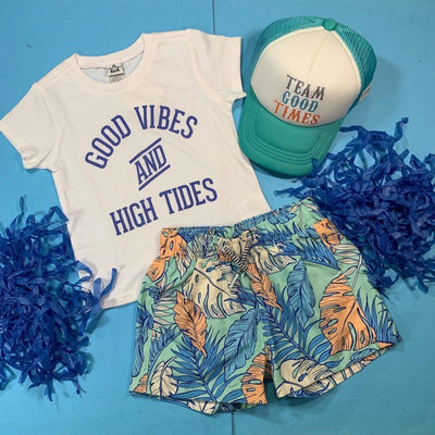 GOOD VIBES & HIGH TIDES TSHIRT - TRILOGY DESIGN CO.