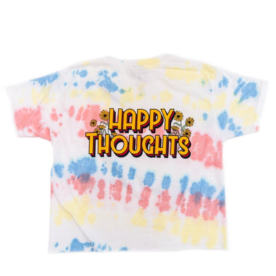 HAPPY TIE DYE CROPPED TSHIRT - PORT 213
