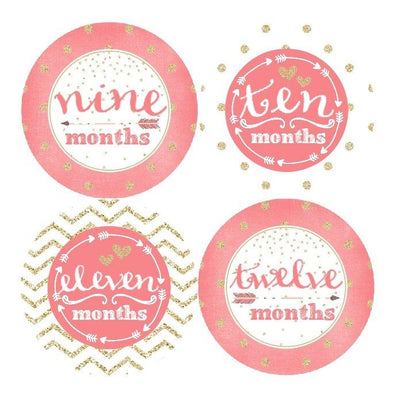 MULTI PATTEREN MONTHLY BABY STICKERS - MADDIESMOME