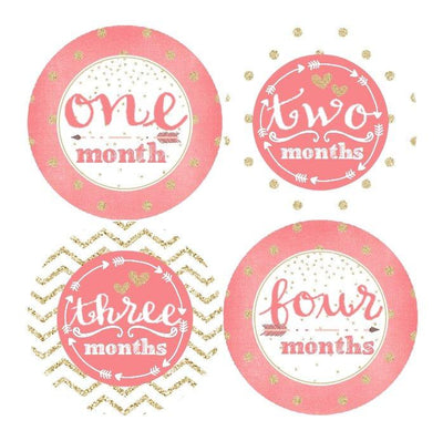 MULTI PATTEREN MONTHLY BABY STICKERS - Mini Dreamers