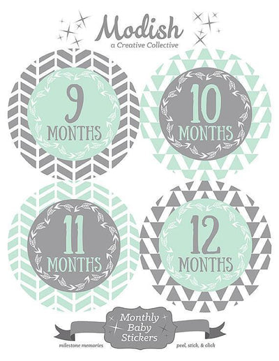 TRIBAL MONTHLY BABY STICKERS - MODISH