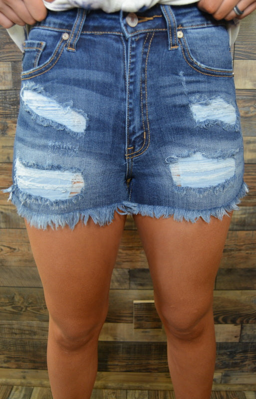 KanCan Dark Denim Shorts