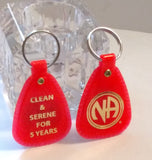 NA 5 Years Clean Key Tag Chip - Orange