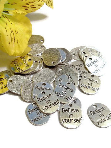 Believe In Yourself Charms - 10pcs