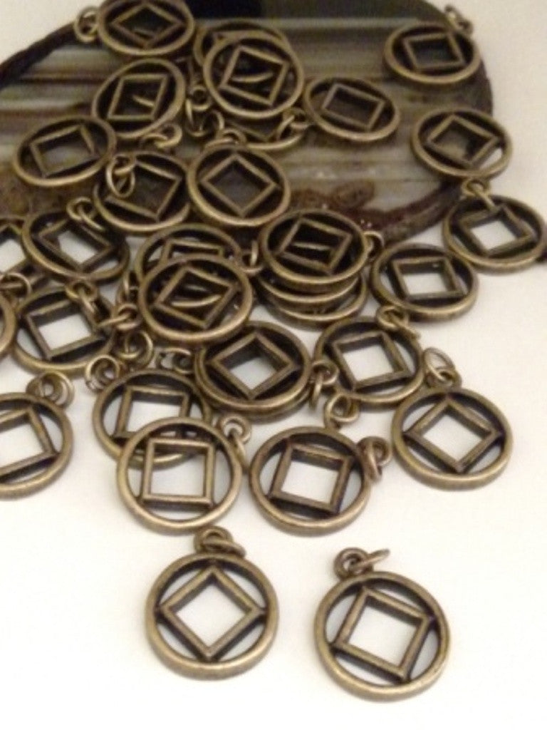 Bronze Cutout Narcotics Anonymous Charms