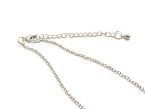 DIY Chains 18 Inch + 2 Inch Extension - Silver Tone Necklace Blanks