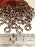 Copper Cutout Narcotics Anonymous Charms