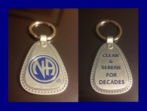Clean and Serene For Decades NA Metal Keytag