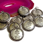 Keep Calm and Call Your Sponsor Pendant Charms 12 Step Recovery