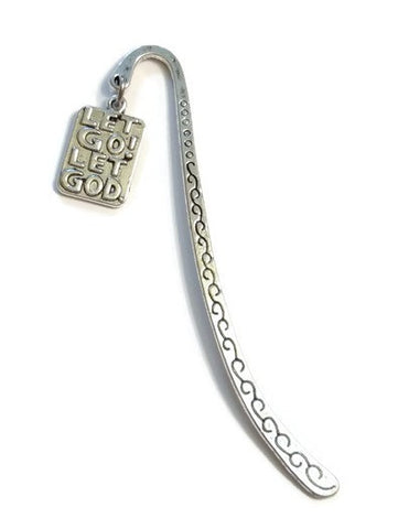 Let Go Let God Bookmark - Silver
