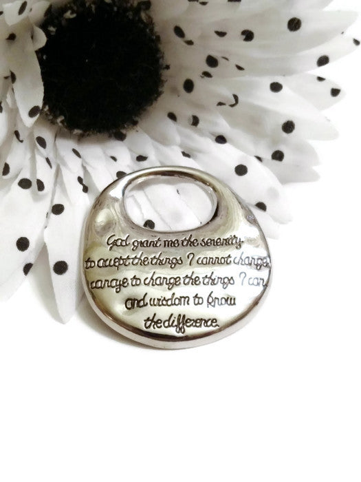 Serenity Prayer Pendant - Large