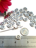 Slide Beads NA Silver Tone Charms - Narcotics Anonymous